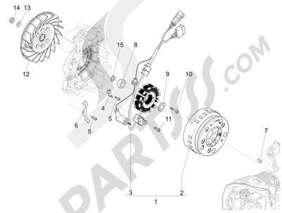 Piaggio Liberty 150 iGet 4T 3V ie ABS (EMEA) 2015 - 2016 Volante magnetico