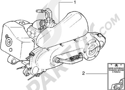 Piaggio Liberty 50 2T 1998-2005 Motor