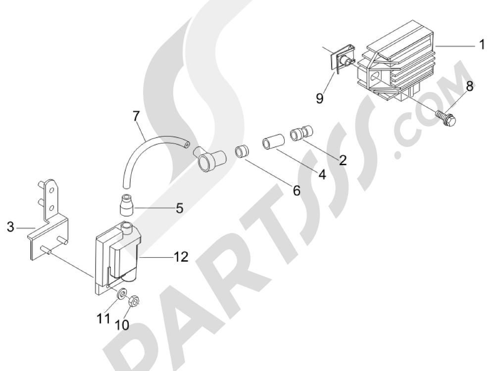 Piaggio Liberty 50 2T (UK) 2007 Reguladores de tensión - Centralitas electrónicas - Bobina A.T.