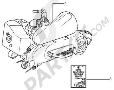 Piaggio Liberty 50 2T RST 1998-2005 Motor