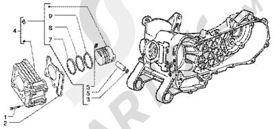 Piaggio Liberty 50 4T 1998-2005 Grupo cilindro-piston-eje de piston