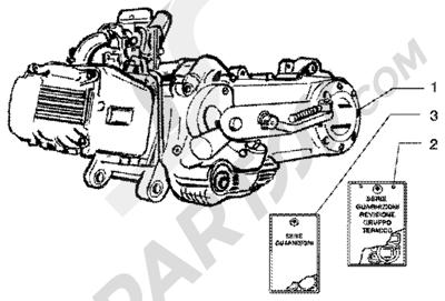 Piaggio Liberty 50 4T 1998-2005 Motor