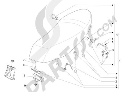 Piaggio Liberty 50 4T MOC 2009-2016 Sillín asientos