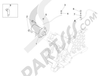 Piaggio Liberty 50 iGet 4T 3V (EMEA) 2015-2016 Arranque - Arranque electrico