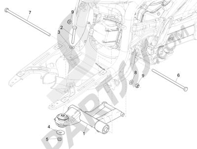 Piaggio Liberty 50 iGet 4T 3V (EMEA) 2015-2016 Brazo oscilante