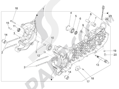 Piaggio Liberty 50 iGet 4T 3V (EMEA) 2015-2016 Cárter