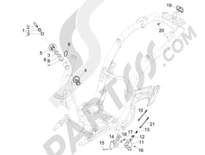 Piaggio Liberty 50 iGet 4T 3V (EMEA) 2015-2016 Cerraduras