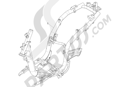 Piaggio Liberty 50 iGet 4T 3V (EMEA) 2015-2016 Chasis carrocería