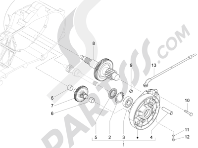 Piaggio Liberty 50 iGet 4T 3V (EMEA) 2015-2016 Grupo reductor