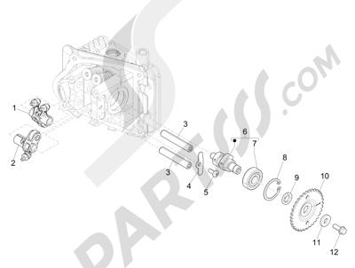 Piaggio Liberty 50 iGet 4T 3V (EMEA) 2015-2016 Grupo soporte balancines