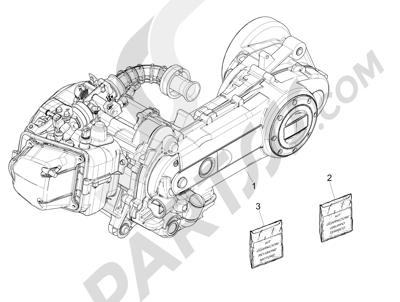 Piaggio Liberty 50 iGet 4T 3V (EMEA) 2015-2016 Motor completo