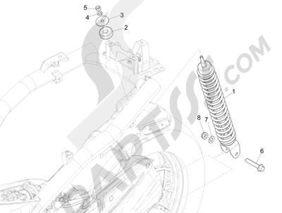 Piaggio Liberty 50 iGet 4T 3V (EMEA) 2015-2016 Suspensión trasera - Amortiguador es