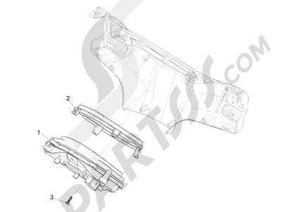 Piaggio Liberty 50 iGet 4T 3V (EMEA) 2015-2016 Tablero de instrumentos - Cruscotto