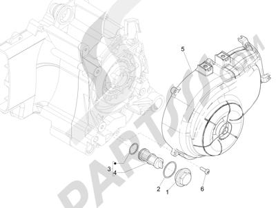 Piaggio Liberty 50 iGet 4T 3V (EMEA) 2015-2016 Tapa volante magnetico - Filtro de aceite