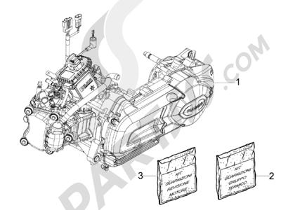 Piaggio MP3 125 ie Touring 2011-2012 Motor completo