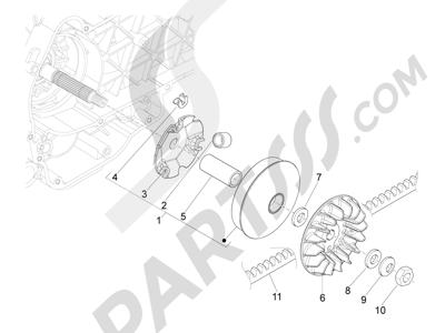 Piaggio MP3 125 YOUrban ERL 2011-2013 Polea conductora