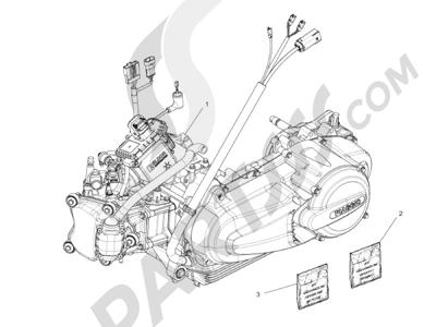 Piaggio MP3 300 4T 4V ie ERL Ibrido 2010 - 2013 Motor completo