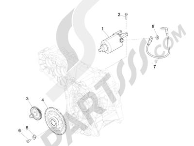 Piaggio MP3 300 LT BUSINESS - SPORT ABS ENJOY 2014-2015 Arranque - Arranque electrico