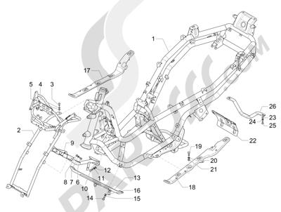 Piaggio MP3 300 LT BUSINESS - SPORT ABS ENJOY 2014-2015 Chasis carrocería