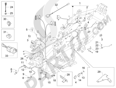 Piaggio MP3 300 LT BUSINESS - SPORT ABS ENJOY 2014-2015 Grupo cables principal