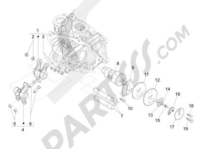 Piaggio MP3 300 LT BUSINESS - SPORT ABS ENJOY 2014-2015 Grupo soporte balancines