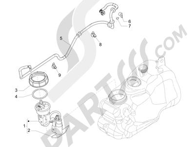 Piaggio MP3 300 LT BUSINESS - SPORT ABS ENJOY 2014-2015 Instalación de alimentación