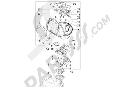 Piaggio MP3 300 LT BUSINESS - SPORT ABS ENJOY 2014-2015 Portaequipajes trasero