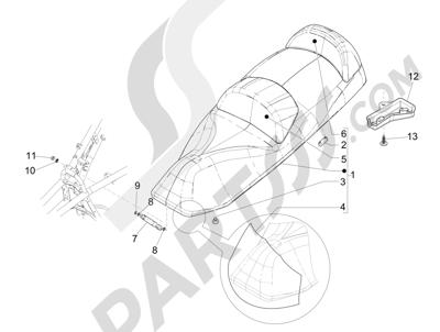 Piaggio MP3 300 LT BUSINESS - SPORT ABS ENJOY 2014-2015 Sillín asientos