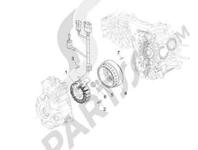 Piaggio MP3 300 LT BUSINESS - SPORT ABS ENJOY 2014-2015 Volante magnetico