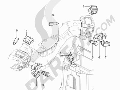 Piaggio MP3 300 YOUrban ERL 2011-2015 Conmutadores - Conmutadores - Pulsadores - Interruptores