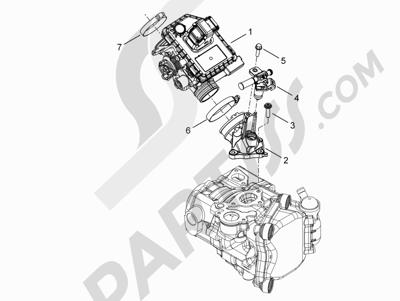 Piaggio MP3 300 YOUrban ERL 2011-2015 Cuerpo con mariposa - Inyector - Racord admisión