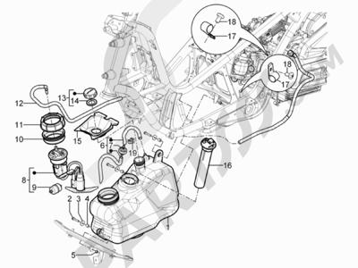 Piaggio MP3 300 YOUrban ERL 2011-2015 Depósito carburante