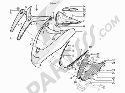 Piaggio MP3 300 YOUrban ERL 2011-2015 Escudo delantero