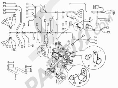 Piaggio MP3 300 YOUrban ERL 2011-2015 Grupo cables principal