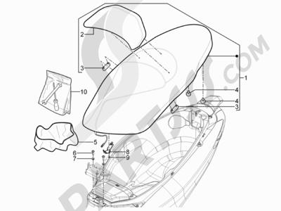 Piaggio MP3 300 YOUrban ERL 2011-2015 Sillín asientos