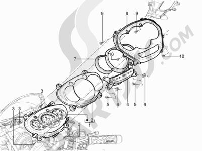 Piaggio MP3 300 YOUrban ERL 2011-2015 Tablero de instrumentos - Cruscotto