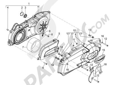 Piaggio MP3 300 YOUrban ERL 2011-2015 Tapa cárter - Refrigeracion cárter