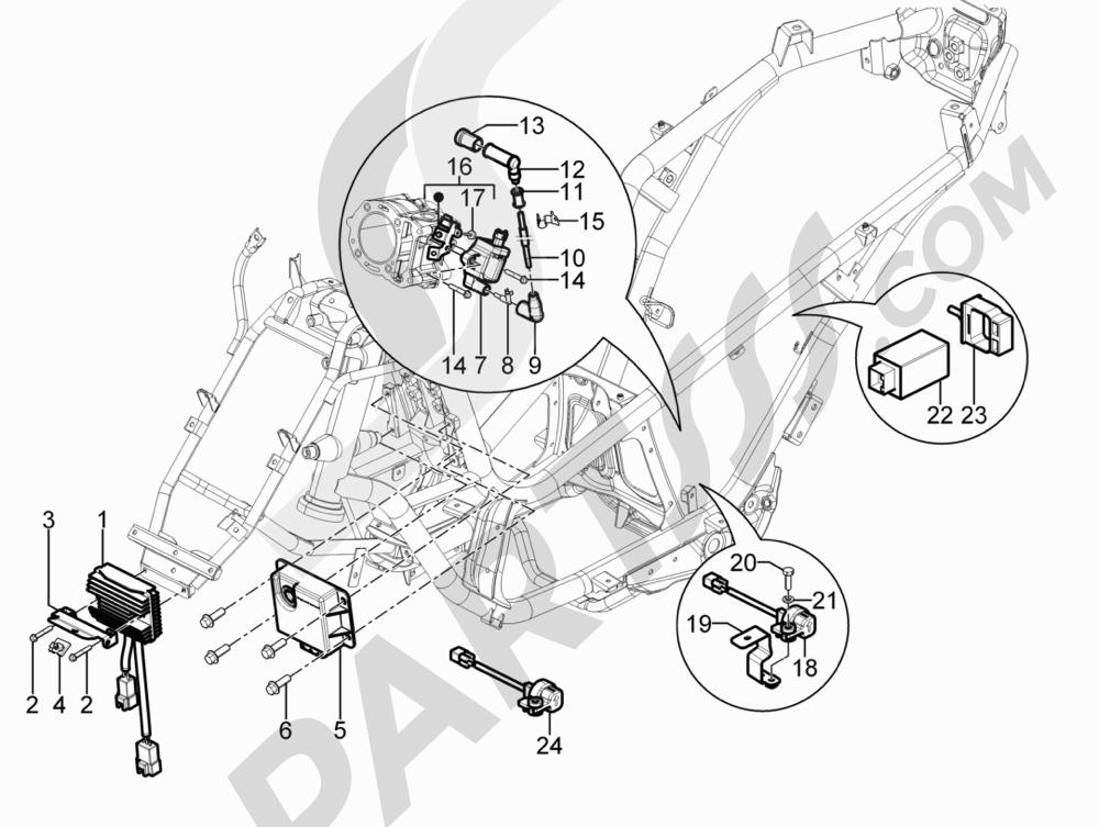 Piaggio MP3 300 YOUrban LT ERL 2011-2012 Reguladores de tensión - Centralitas electrónicas - Bobina A.T.
