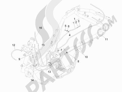 Piaggio MP3 500 LT Sport - Business 2011-2012-2013 Transmisiónes