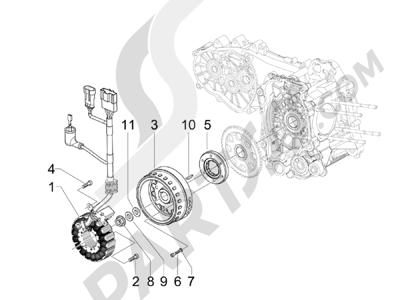 Piaggio MP3 500 LT Sport - Business 2011-2012-2013 Volante magnetico