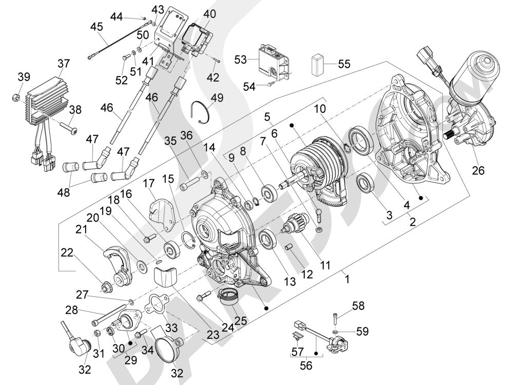 Reguladores de tensión - Centralitas electrónicas - Bobina A.T. Piaggio MP3 500 LT Sport - Business 2011-2012-2013