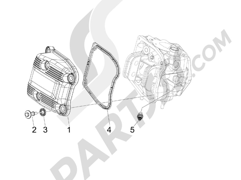 Tapa culata Piaggio MP3 500 LT Sport - Business 2011-2012-2013
