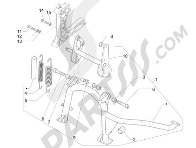 Piaggio MP3 500 LT Sport 2014-2015 Caballete s