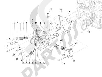 Piaggio MP3 500 LT Sport 2014-2015 Grupo culata - Valvula