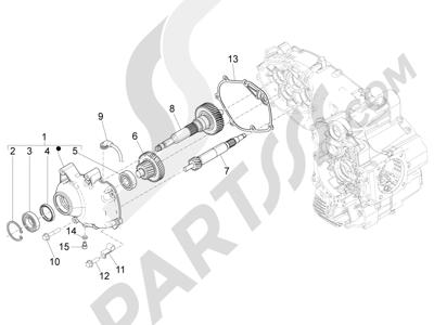 Piaggio MP3 500 LT Sport 2014-2015 Grupo reductor