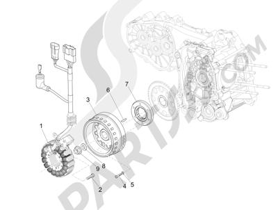 Piaggio MP3 500 LT Sport 2014-2015 Volante magnetico