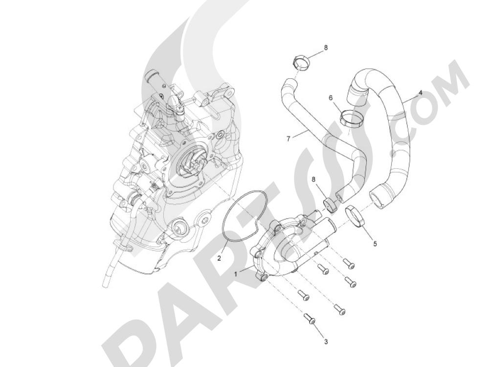 Bomba de agua Piaggio MP3 500 LT Sport 2014-2015