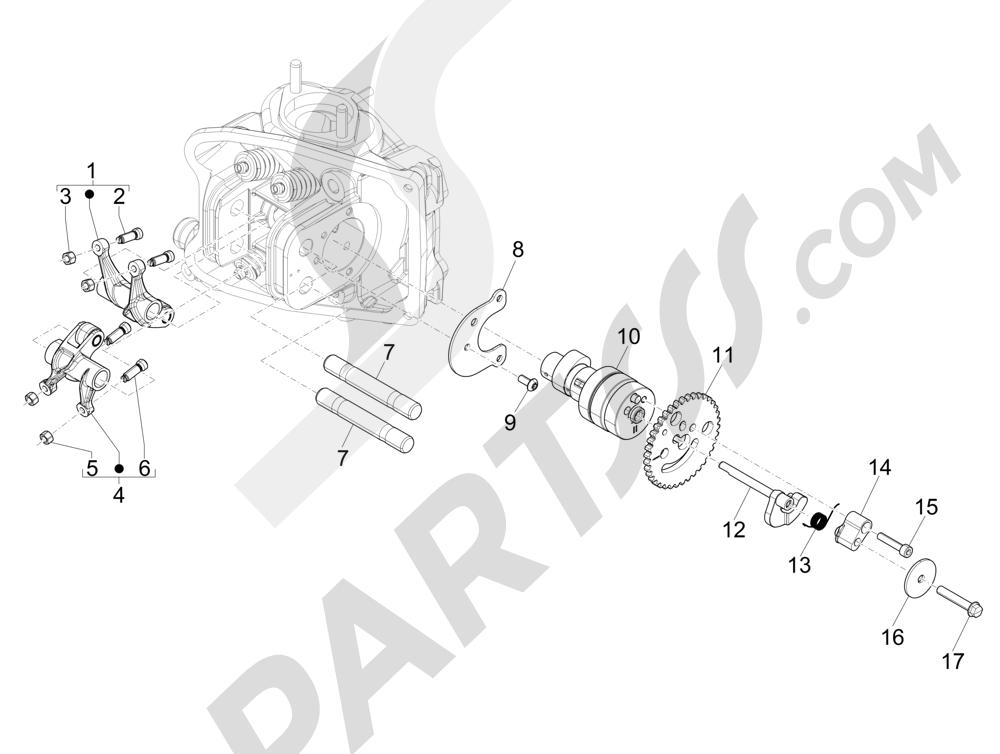 Grupo soporte balancines Piaggio MP3 500 LT Sport 2014-2015