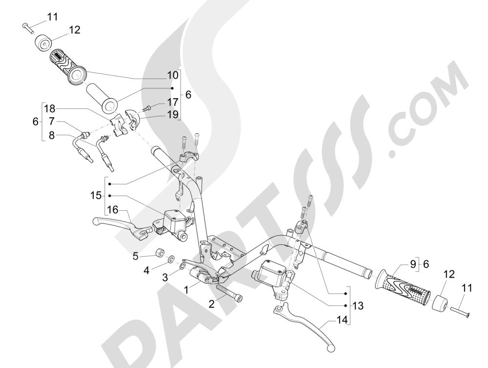 Manillar - Bomba freno Piaggio MP3 500 LT Sport 2014-2015