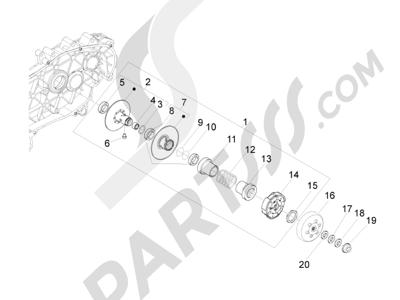 Piaggio MP3 500 RL Sport - Business 2011-2012 Polea conducida